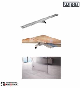 WIPER Invisible Slim Odpływ Liniowy 900 Drewno egzotyczne, Marmur, Granit, Gres, Szkło Hartowane, Posadzka Winylowa WIS900