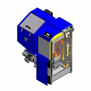 Kocioł C.O. OGNIWO EKO PLUS M 26 kW z automatyczny z podajnikiem ślimakowym