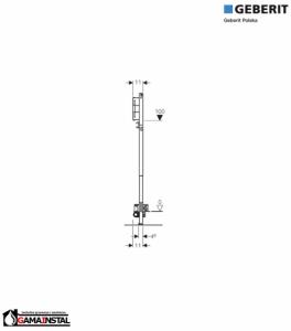 GEBERIT Duofix do natrysków z odpływem ściennym, h65, H130 UP, 111.581.00.1