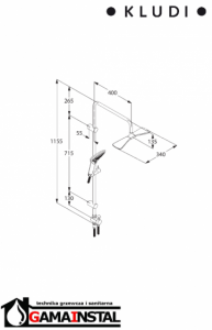 Kludi Zestaw natryskowy Dual Shower System 6709105-00