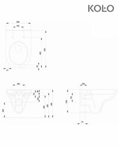 KOŁO NOVA PRO miska wisząca Rimfree M33120