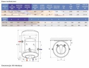 ATLANTIC DUO Elektryczny wymiennik ciepła, zasobnik wody c.w.u. 150 litrów