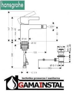 Hansgrohe Metris S Bateria Bietowa