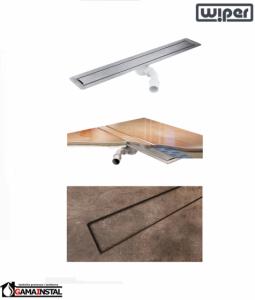 WIPER Invisible Odpływ Liniowy 700 Drewno egzotyczne, Marmur, Granit, Gres, Szkło Hartowane, Posadzka Winylowa WI700