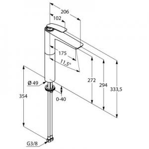 Rysunek techniczny baterii Balance 522980575