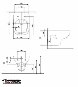 KOŁO Style miska wisząca  L23100-900 z powłoką REFLEX