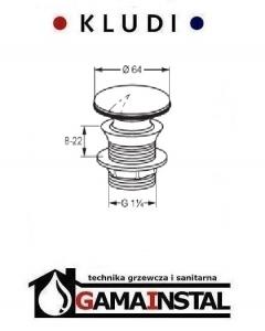 Kludi balance zamykany zawór spustowy G 1 1/4 104220500