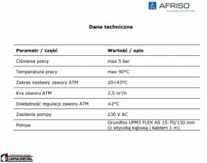 AFRISO Moduł Mieszający do Ogrzewania Podłogowego z Zaworem ATM, 9050100