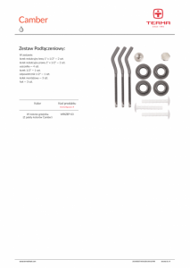Terma grzejnik aluminiowy Camber  578x500 kolor quartz , 10 żeberek WGCAM057080KQUALP