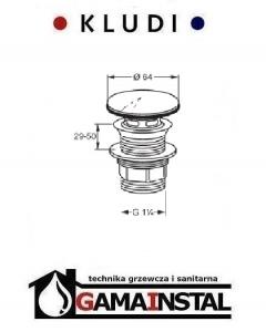 Kludi Balance zamykany zawór spustowy G 1 1/4 104210500