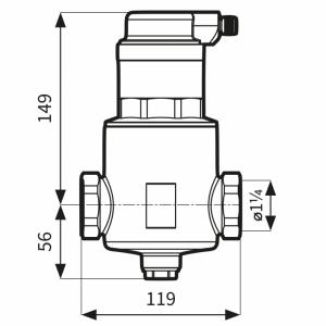 Afriso separator powietrza FAR  313  1 1/4  z odpowietrznikiem  7773130