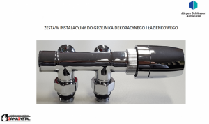 SCHLOSSER Komplet Instalacyjny Do Grzejnika Dekoracyjnego i Łazienkowego CHROM
