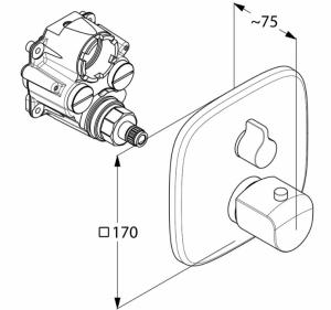 Kludi AMEO Bateria wannowo natryskowa podtynkowa termostatyczna chrom 418300575