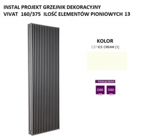 INSTAL-PROJEKT VIVAT  1800X375 VIV-180/13 C57 ICE CREAM