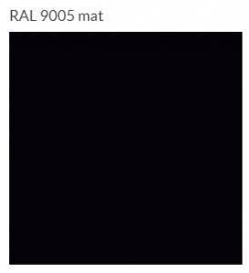Terma Warp S grzejnik łazienkowy 1110x500 czarny mat