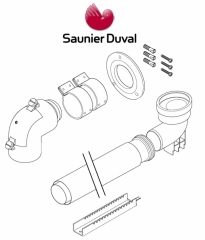 SAUNIER DUVAL ODPR SPALIN DO SZACHTU 60/100-80 S0020267925