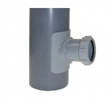 Mcalpine uniwersalne siodło mechaniczne do pionów kanalizacyjnych 110/50mm BOSSCONN110-50-GR