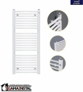 Instal Projekt grzejnik łazienkowy OMEGA R 400X686 biały OMER-40/70