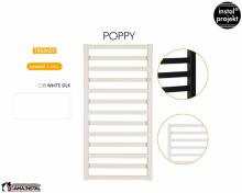Grzejnik łazienkowy Instal-Projekt Poppy biały 500x1310 PPY-50/130