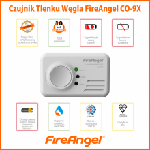 FireAngel Czunik tlenku węgla CO-9X10 z wbudowaną baterią litową